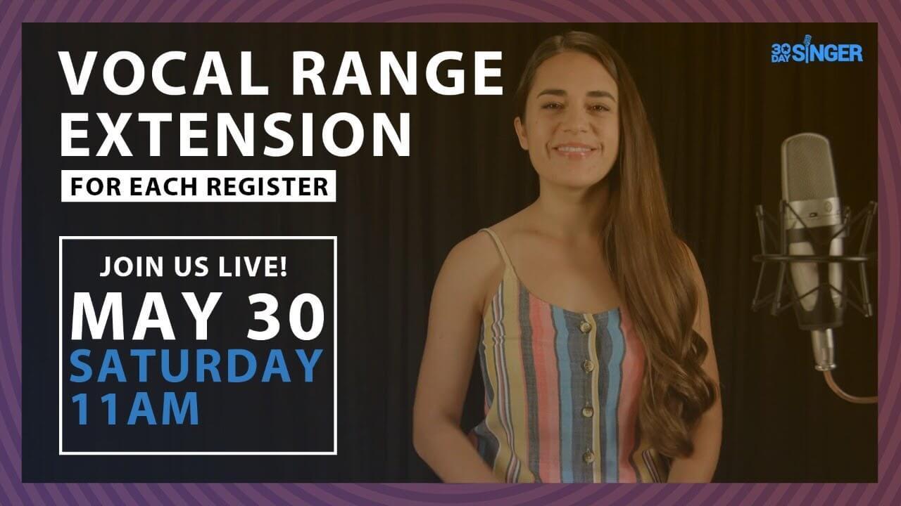 Camille's Live Lesson: Vocal Range Extension For Each Register