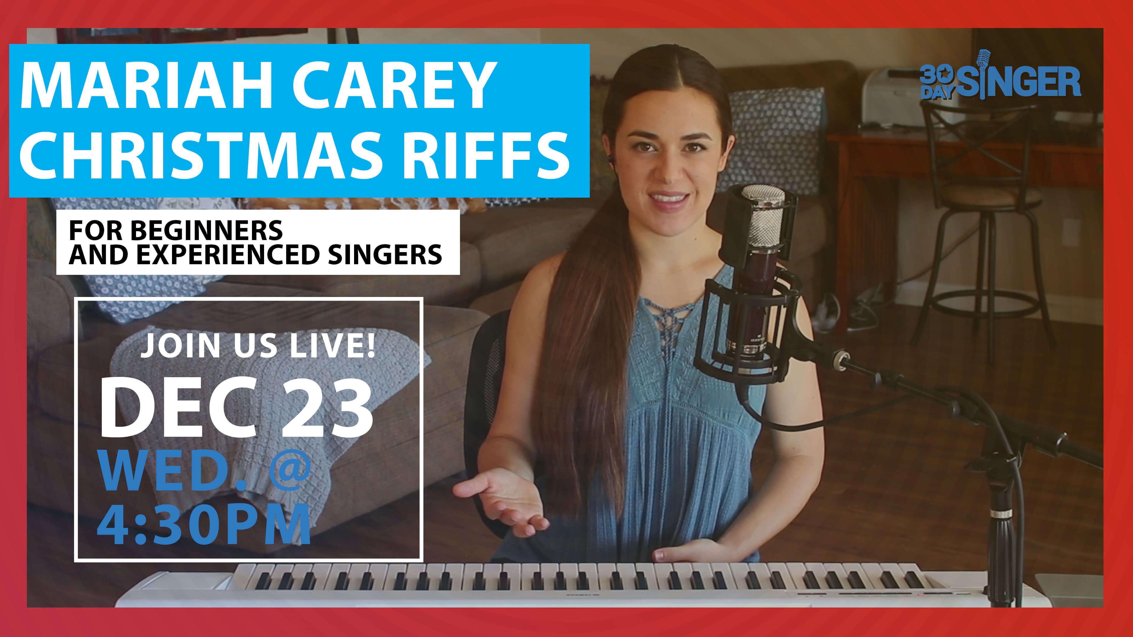 Mariah Carey Christmas RIFFS & RUNS